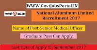 National Aluminium Company Limited Recruitment 2017 – 16 Senior Medical Officer