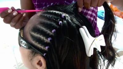 jasa kepang rambut di Pantai Kuta, Bali