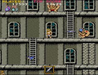 大男のマンションで戦うアーサー