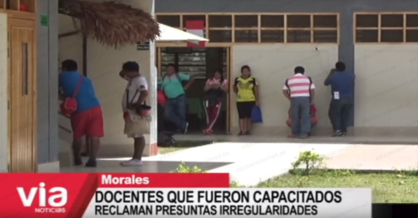 Docentes que fueron capacitados reclaman presuntas irregularidades en la UGEL San Martín - Tarapoto [VIDEO]