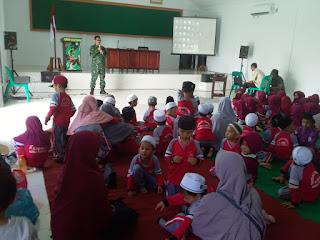 Perkenalkan Profesi TNI, TK Islam Terpadu Al-Hikmah Kunjungi Kodim Tanjab