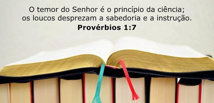 O temor do Senhor é o princípio da ciência; os loucos desprezam a sabedoria e a instrução.