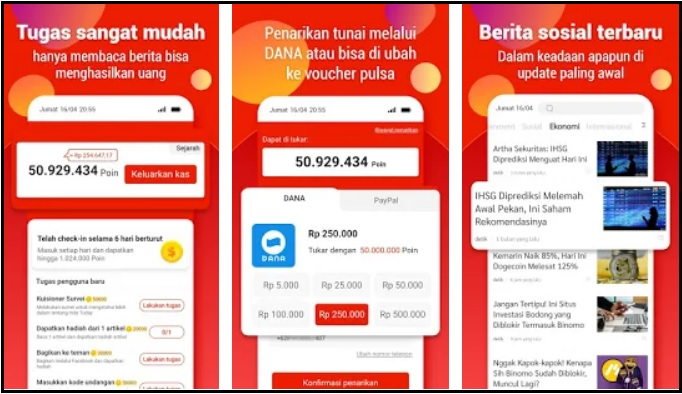 Indo Today Apk Penghasil Saldo Dana