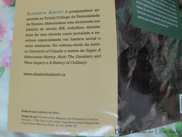 Resenha, livro, Amantes, Elizabeth-Abbott, record, sobre-a-autora