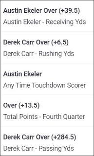 Week 4 NFL Bet Builder (2021)