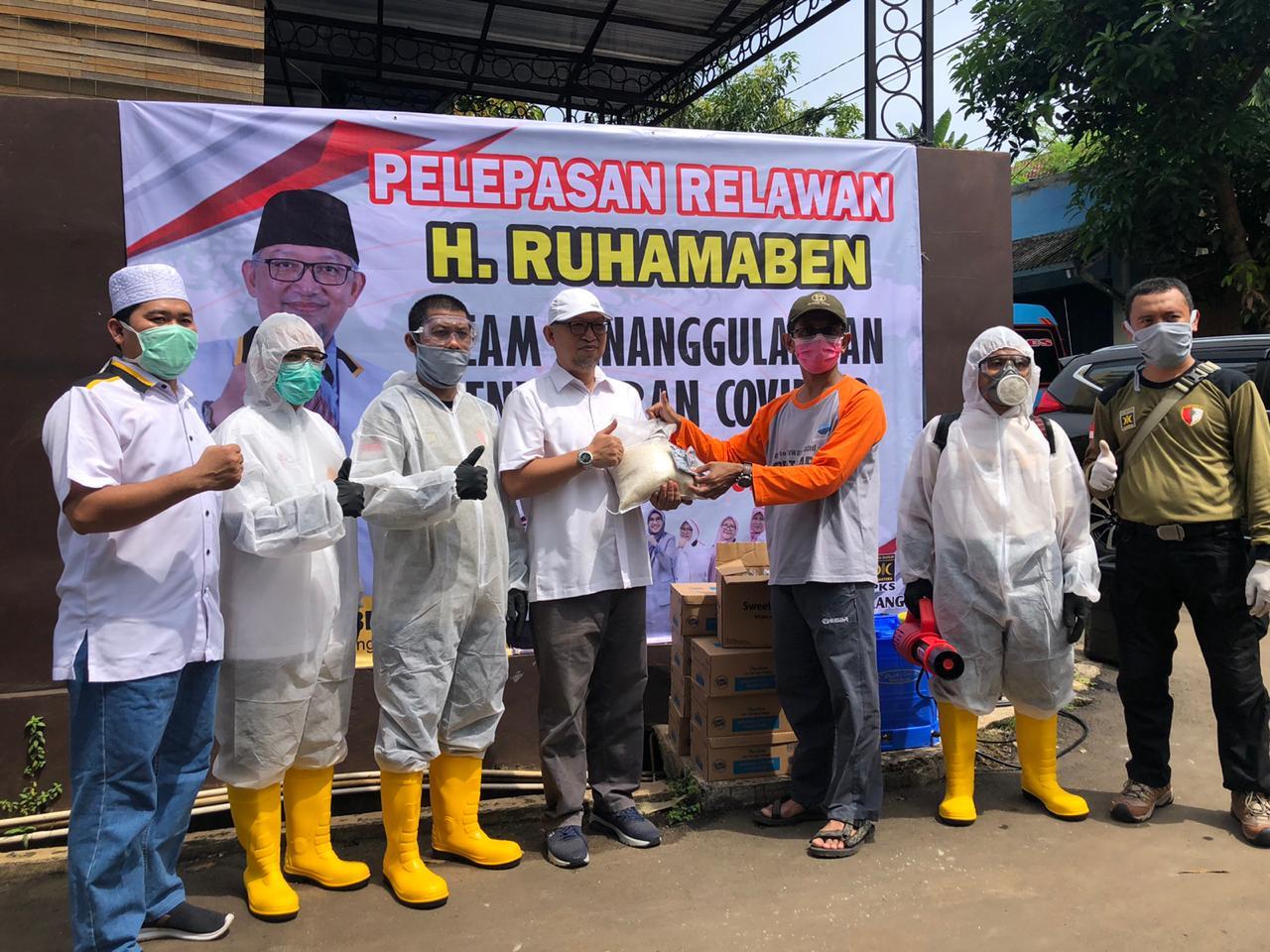 Tangsel Darurat COVID-19, Ruhamaben Luncurkan Tim Relawan Penanggulangan