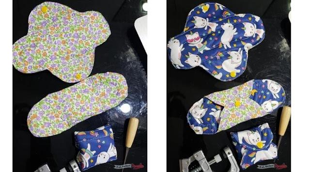Como fazer absorvente de pano