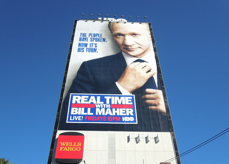 Real Time with Bill Maher HBO billboard