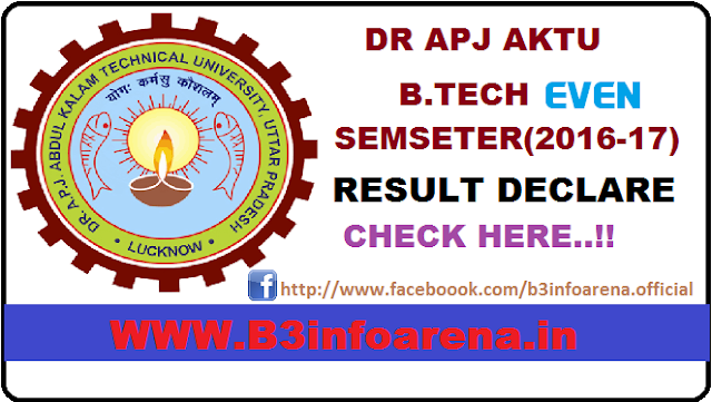 AKTU Even SEM Result 2016-2017