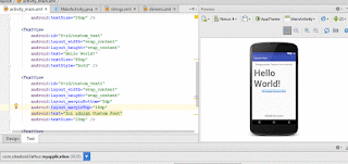 Preview Custom Fonts Android Studio