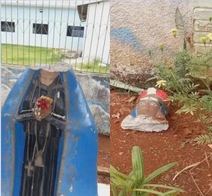 INTOLERÂNCIA RELIGIOSA - Imagem de Nossa Senhora Aparecida é achada decapitada em Santa Maria