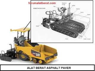 alat berat asphalt paver