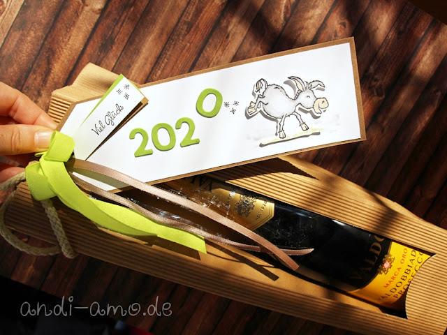 silvester neujahr anhänger deko stampin up