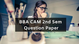 Mdu BBA CAM 2nd Sem Question Papers 2019