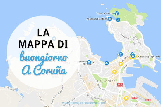 buongiorno A Coruña - La mappa di A Coruña
