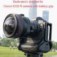 Sunwayfoto Custom L Bracket for Canon EOS R with Battery Grip - Preview
