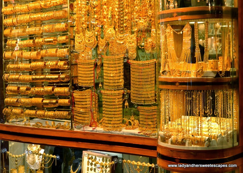 jewelry shop at Dubai Gold Souk