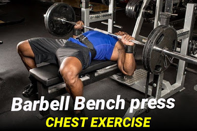 How to do Barbell bench press chest exercise