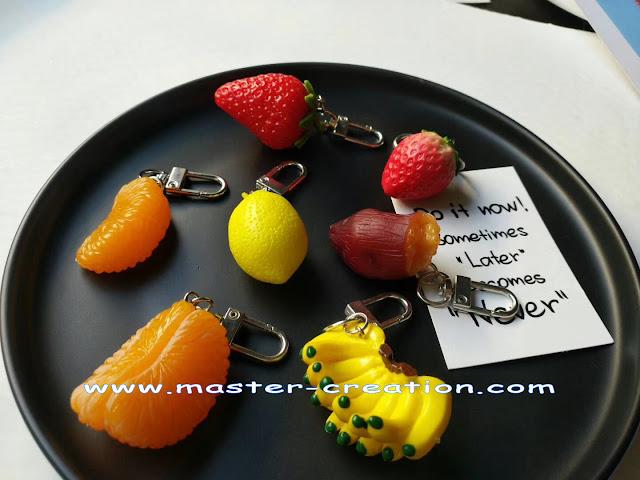 mini orange, mini banana, mini strawberry
