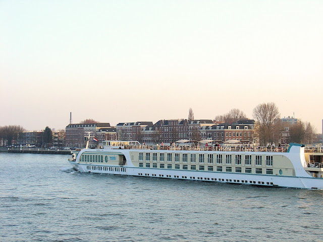 One of the many European River Cruise ships you'll see plying the waters throughout the Netherlands and all of Europe for that matter.