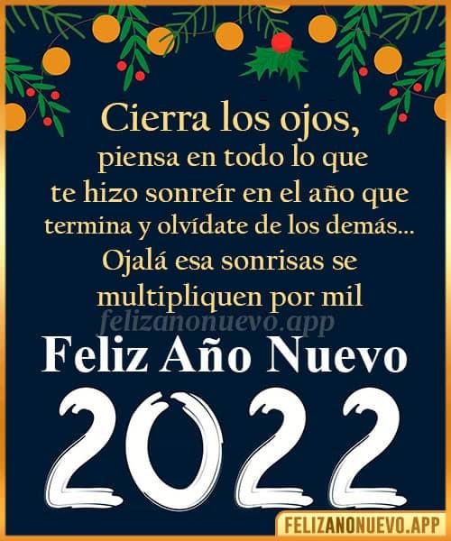 Mensajes con frases para felicitar en año nuevo 2022