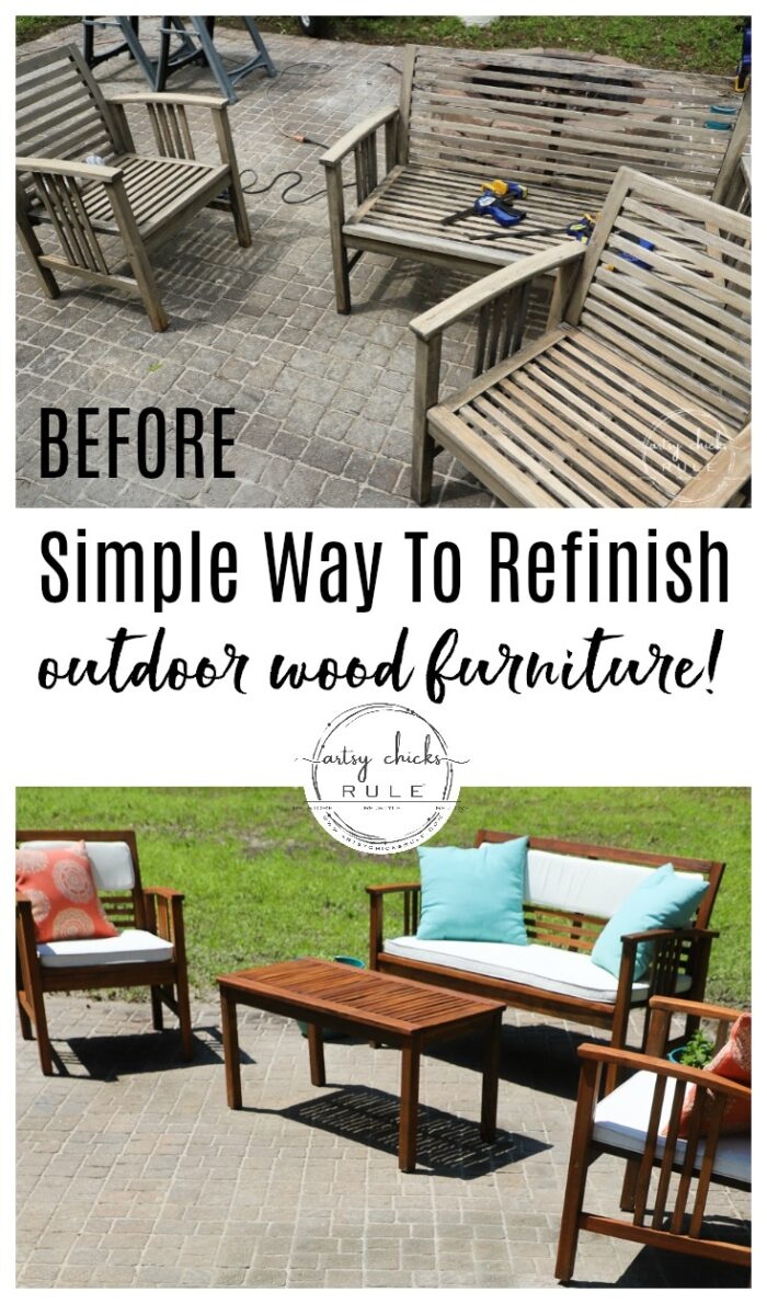 How to refinish outdoor furniture with stain