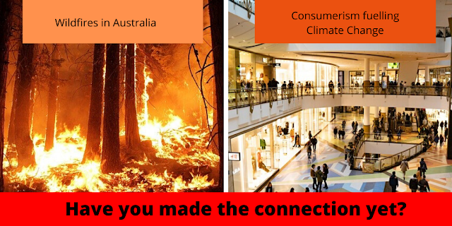 Burning forests and shopping - they are connected