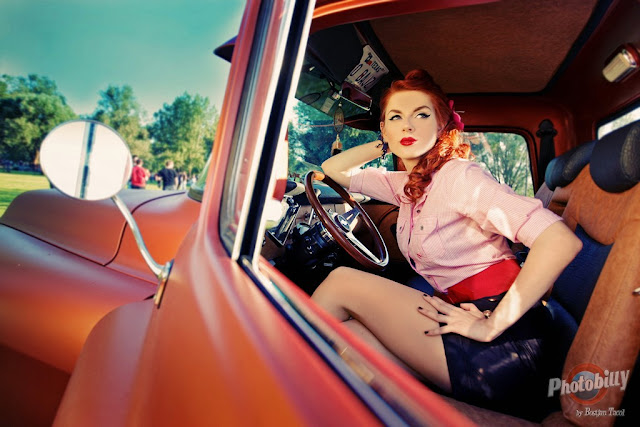 Pin Up Girls and Cars by Bostjan Tacol