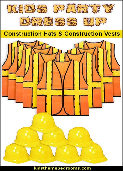 Construction Hats  Construction Vests construction party dress ups construction party costumes