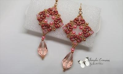 orecchini con superduo e perle