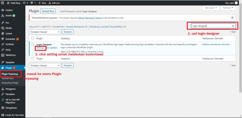 merubah halaman login wordpress