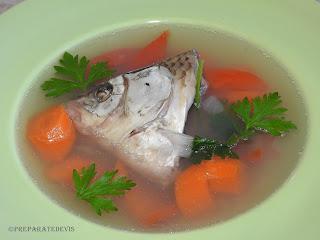 Supa de peste cu legume reteta,
