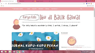 template blog karya kata ibu di balik gawai
