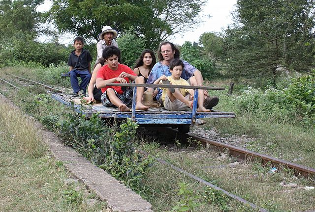 Backpackers Delight:  Vietnam, Cambodia and Laos bamboo train