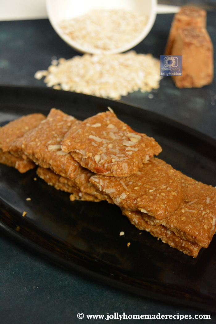 Oats Sesame Seed Fudge Recipe