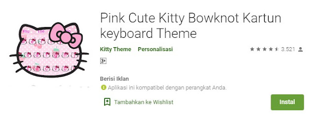 Tema Hello Kitty Android Lucu