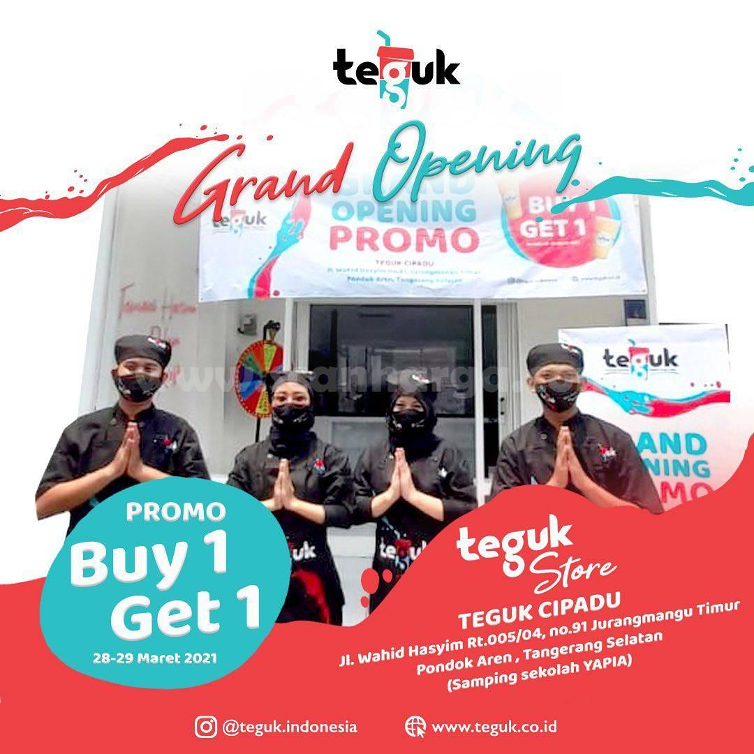 TEGUK SRENGSENG SAWAH Promo GRAND OPENING  – BELI 1 GRATIS 1