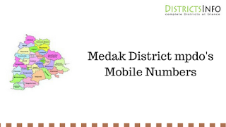 Medak District mpdo's Mobile Numbers