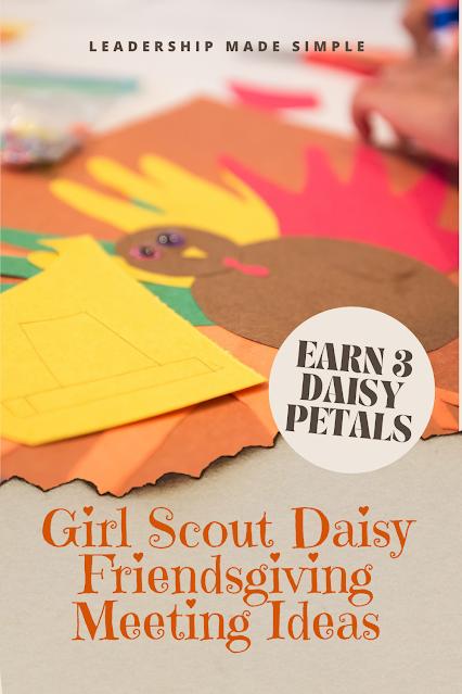 Girl Scout Daisy Friendsgiving Meeting Ideas