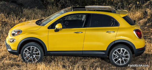 Fiat 500X with panoramic roof