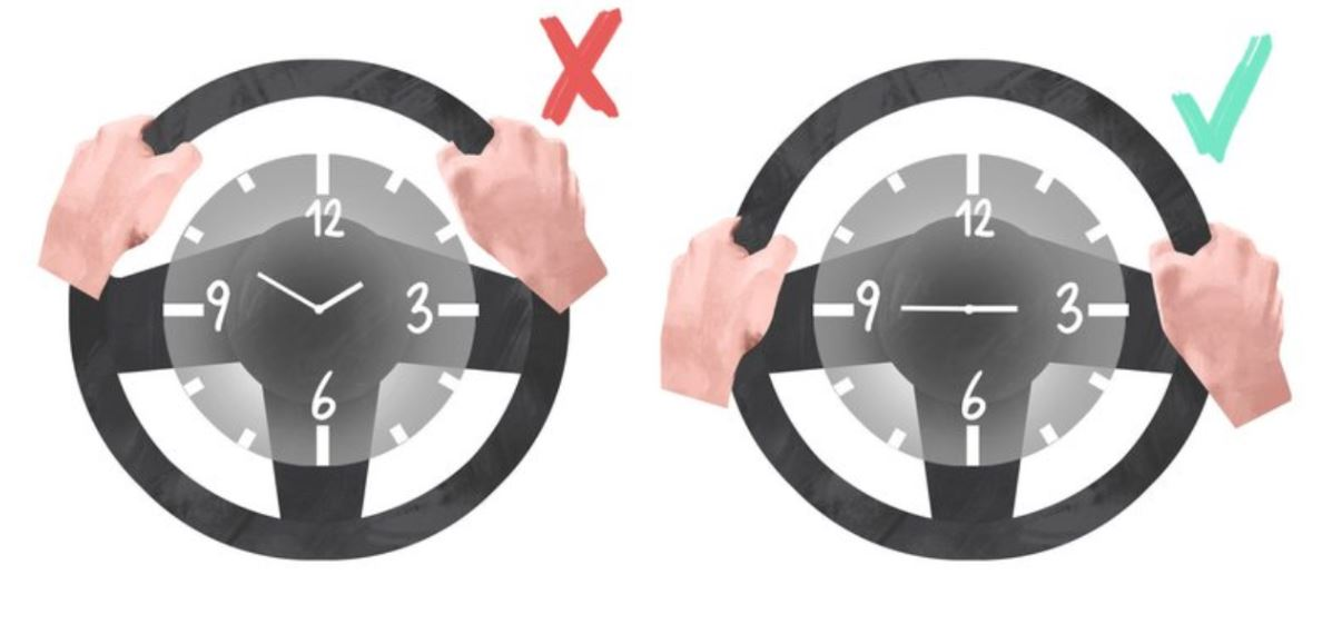 Estudio japonés determinó cuál es la mejor posición de las manos para manejar