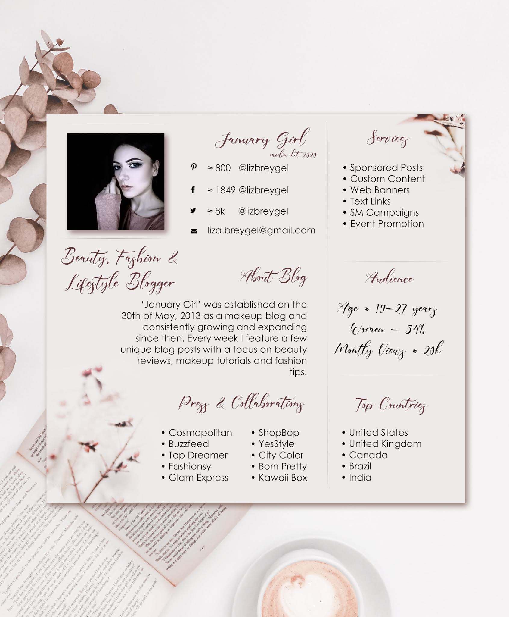 January Girl blog media kit 2020