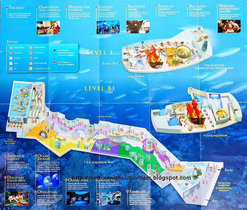 map of S.E.A. Aquarium, Singapore