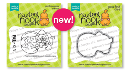 Pug-kin | Halloween Pug in Pumpkin Stamp Set by Newton's Nook Designs #newtonsnook
