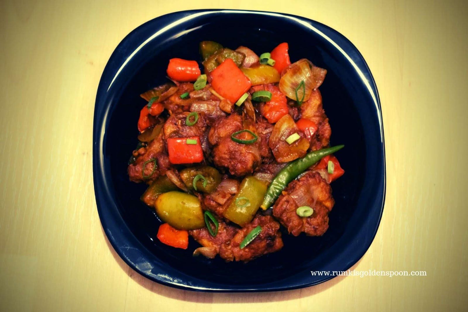 Chinese recipe, Restaurant Style Chilli Chicken, Quick and Easy, Rumki's Golden Spoon, Chinese recipe with chicken, chicken recipe, Indo-chinese recipes, chicken appetizer recipe, nonveg starter/appetizer recipe, spicy chicken/murgi recipe, chicken recipe with capsicum/bell peppers