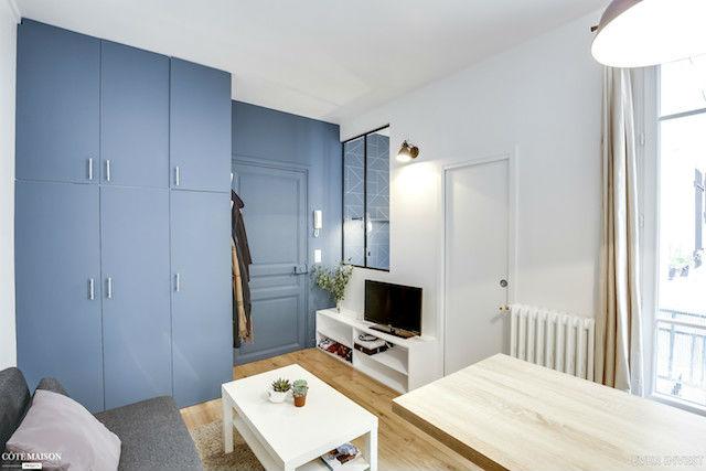 salón y comedor de piso pequeño
