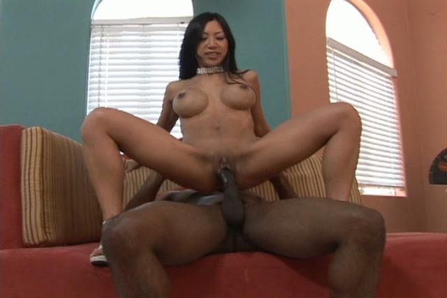Asian Whore Tia Ling Grinds On The Meat