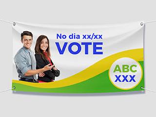 banner e faixa politico