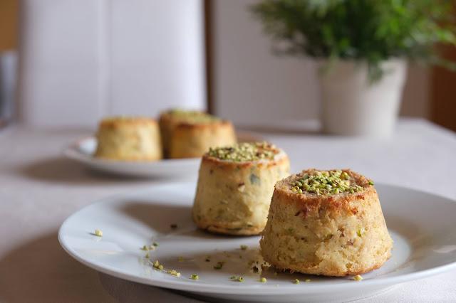 Tortini al pistacchio senza glutine e senza lattosio
