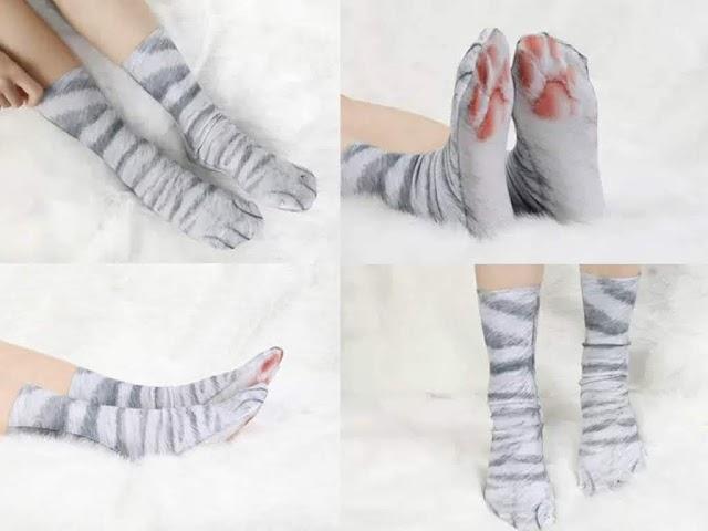 【聖誕節禮物】Aiyo0o 肉球不滿貓奴襪 一套有齊 3 款